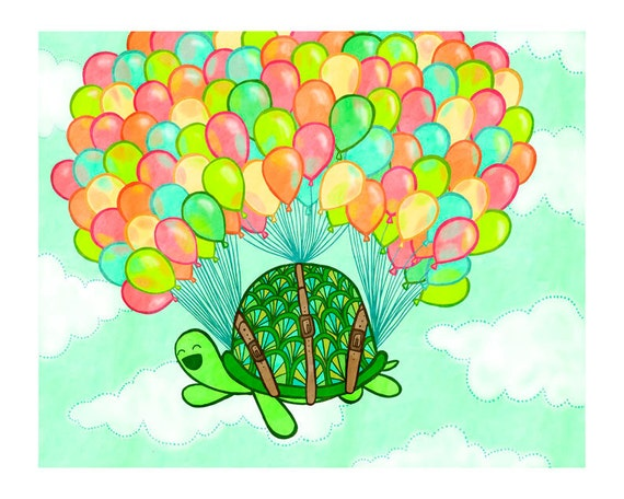 Floating Turtle 8x10 Print