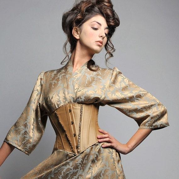 SAMPLE SALE CORSET in size small (Nanette underbust corset)