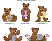 Set of 25 EASTER BEAR Personalized Cardstock Tags, 5 Designs to Choose From, Gift Tags, Hang Tags, Favor Tags