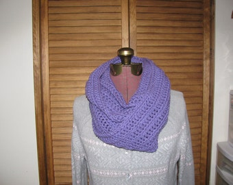 Lavender cowl infinity scarf