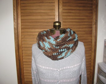 Earth and sky infinity cowl scarf