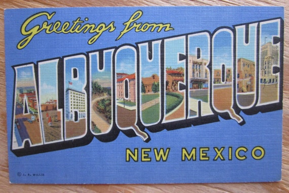 Vintage Postcard Greetings From Albuquerque New Mexico