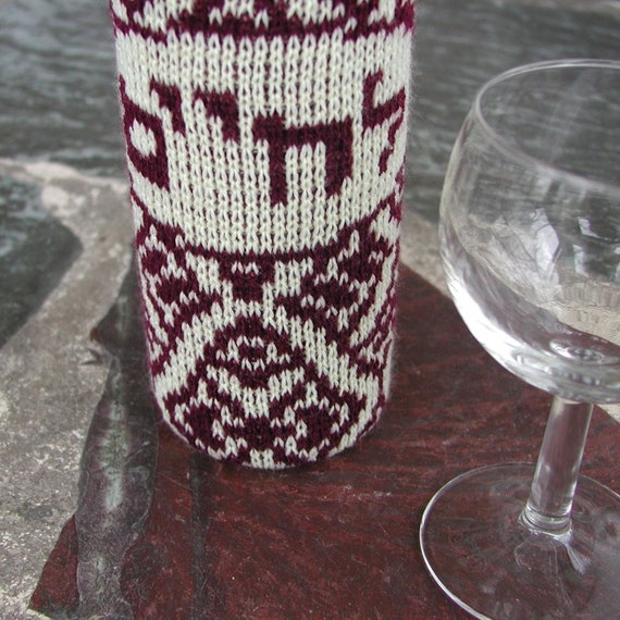 L'Chaim Wine Cozy - to life