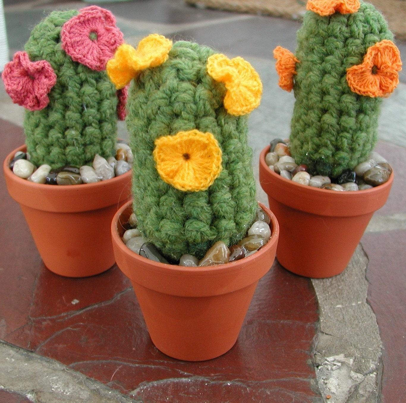 Etsy Amigurumi Cactus : Crochet Cactus Yarnius Crochetius