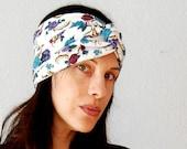 SALE recycled BOHO wrap / FLORAL print turban
