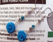 Twin Peaks, Blue Rose Earrings, Fire Walk With Me, Shimmer Shimmer