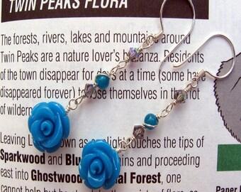 Twin Peaks, Blue Rose, Earrings, Fire Walk With Me, Shimmer Shimmer
