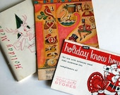 3 Vintage Books Cookbooks Advertising Holiday Cook Booklets