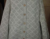 Vintage 1988 Moussie for Susan Bristol Wool Sweater Jacket Hearts and Flowers