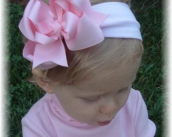 pink baby headband, little girl hair bows, hair bows for girls, infant headbands, unique headbands, little girl headbands, hair accessories