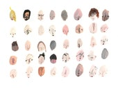 Forty Faces 40/40  / Professional Digital Print / 8x11