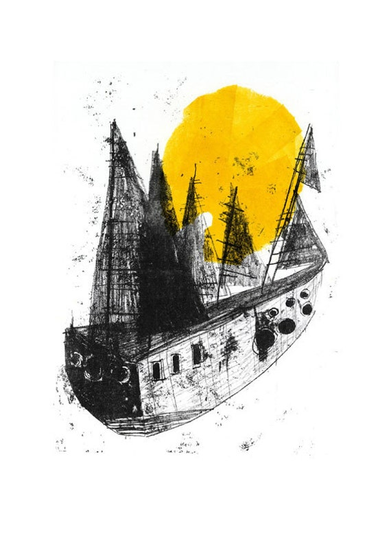 The Ship / Digital Poster Print / A3 - 11.7 x 16.5 inches
