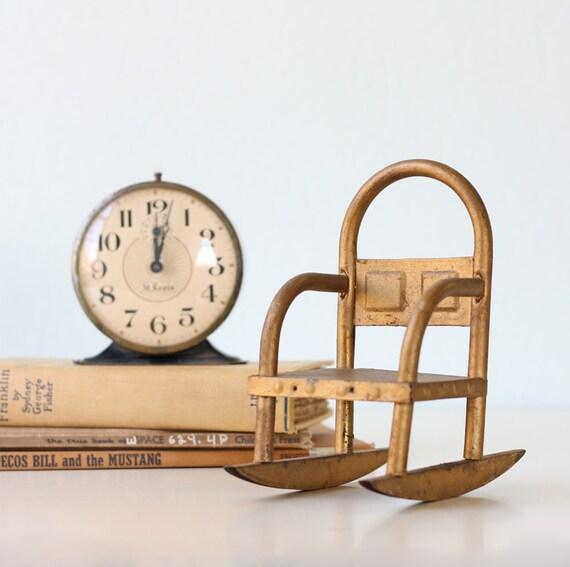 Vintage Gold Rocking Chair