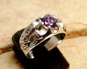 70% OFF Going Out of Business Sale.. Last One.Grape Vine - Sterling Silver Ring - Size 7.5