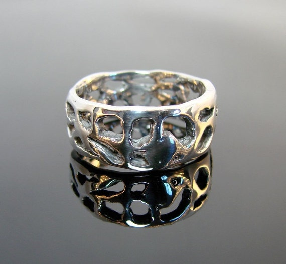Volcanic - Sterling Silver Ring - 242