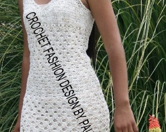 Pattern PDF White Teardrop Dress