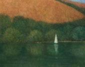 Sailing at Trellisick, Original Painting