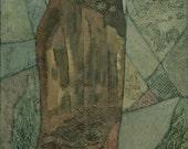 Laelia, Female Figure Original Textured Painting