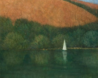Sailing at Trellisick, Original Painting