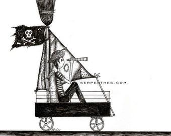 AHOY! // 8x10 Pirate Kid fine art print