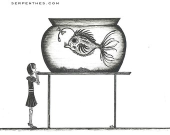 HER NEW GOLDFISH // 8x10 Fish Fine Art Print