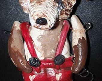 Whimsical Folk Art Jack Russell Terrier Dog Party