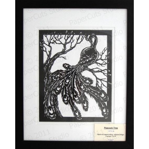 Peacock Papercuttings, Handcut Originals