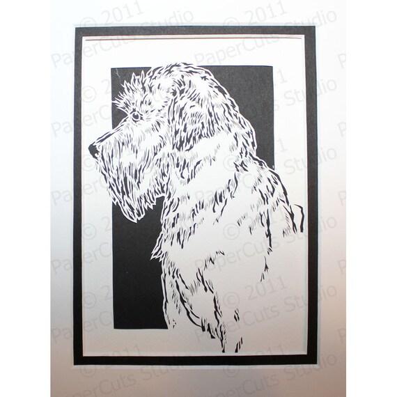 Soft Coated Wheaten Terrier Papercutting- Handcut Original