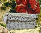 Small Bag Pouch Clutch Cotton Grey Zippered Camera Makeup Ipod Purse Concealer Feminine Private Items Boho