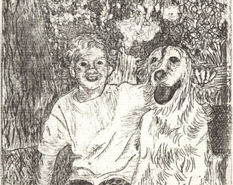 Kenya and Chris - Original Etching\/Intaglio