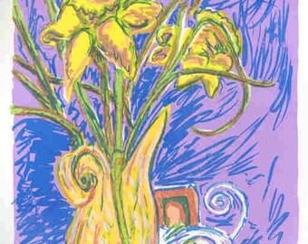 Noras Daffodils II - Original Silkscreen Print