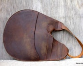 Rustic Mustang Oiled Cowhide Leather Egg Shaped Bag by Stacy Leigh Ready to Ship