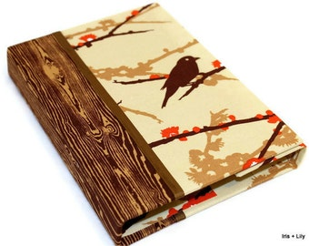 Kindle Fire Case, KindleFire HD Cover, Nexus 7 Case, Nook Tablet,Hardcover Small Tablet Case Stand, Personalized, Brown Sparrows