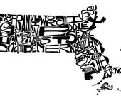 Massachusetts - typograph...