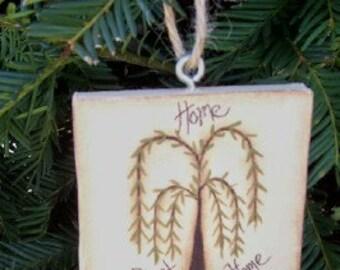 Willow Tree Mini Canvas Ornament Basket Tie-Handpainted