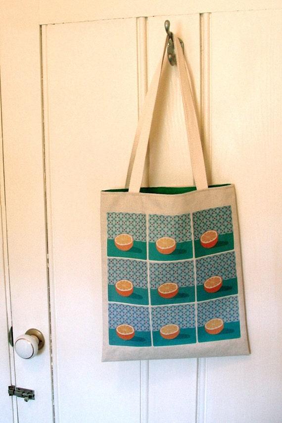 Organic Cotton & Hemp Tote Bag (orange)