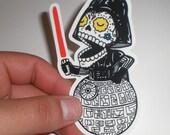 Calavera Vader Die Cut Vinyl Sticker