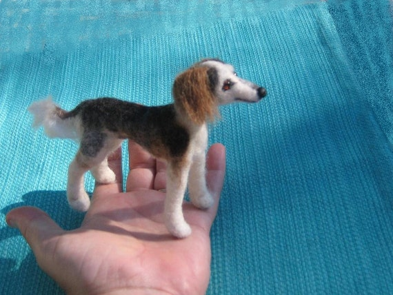 Needle Felted Dog / Custom Miniature Sculpture of your pet