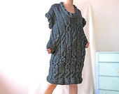 Gray Knitted Dress - Made to Order