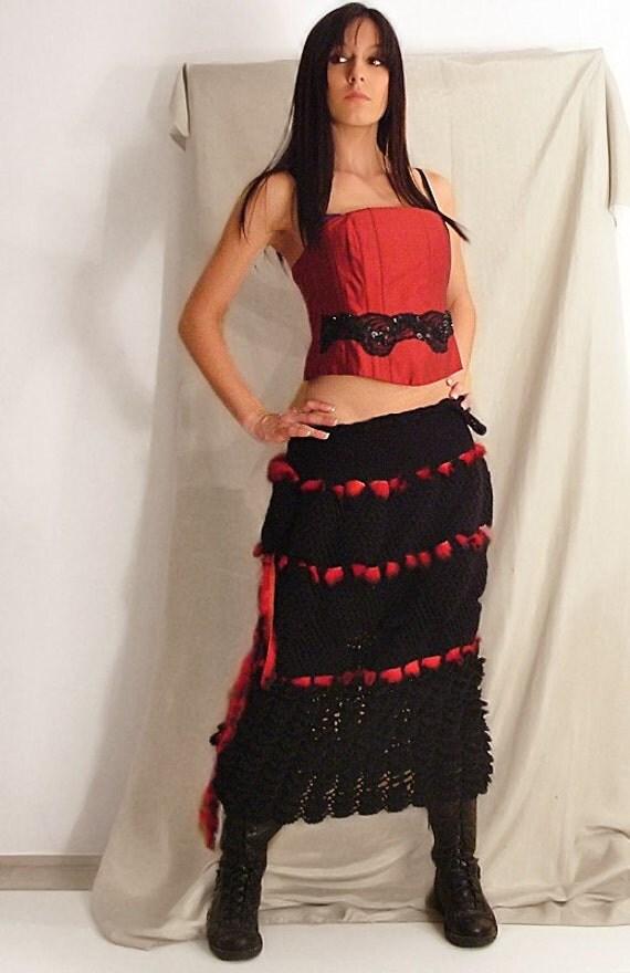 Ruffled Black Skirt/Dress