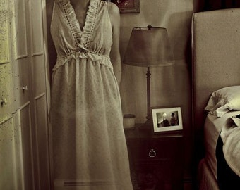 Haunted Portrait, Surreal Photography, Ghost Photograph, Sepia, Black and White, Halloween Decor, Bedroom, Fine Art Print