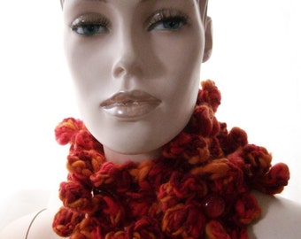 Crayon flowers - versatile charm, bookmark or muffler crochet pattern