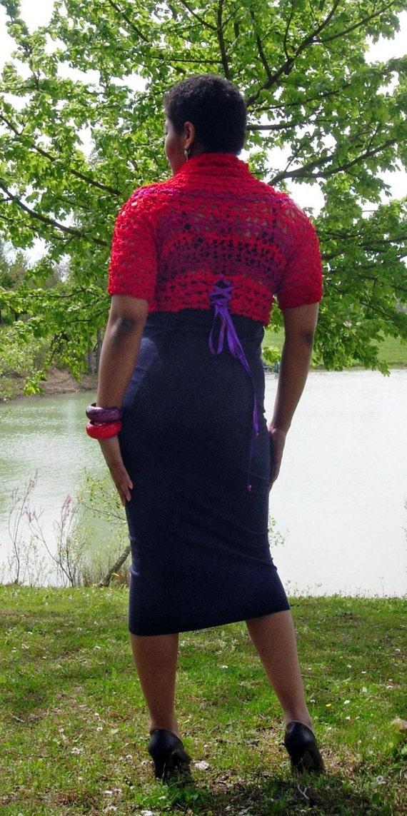 Scarlett Blossom - Lacy convertible Tee crochet pattern