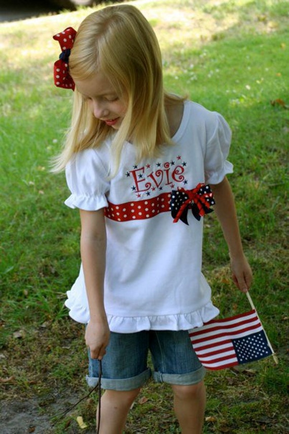 Star Spangled Monogrammed/ Personalized T-Shirt