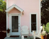 Precious Pink Cottage - A Romantic Beach Bungalow - Original Colour Photograph - ItalianGirlinGeorgia