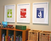 nursery wall art, kids personalized name signs, personalized children's gifts, childrens art