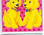 Lisa Frank My Sticker Collection Mini Album Book  with Stickers PUPPIES
