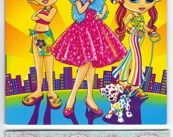 Lisa Frank My Sticker Collection Mini Album Book  with Stickers FASHION