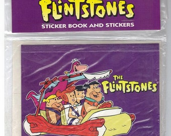 Vintage Mello Smellos The Flintstones Sticker Saver Book with Stickers NIP