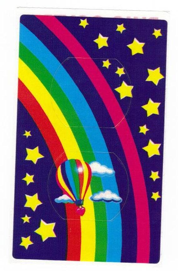 Lisa Frank Hot Air Balloon Rainbow Plug Cover Sticker 80 39 S